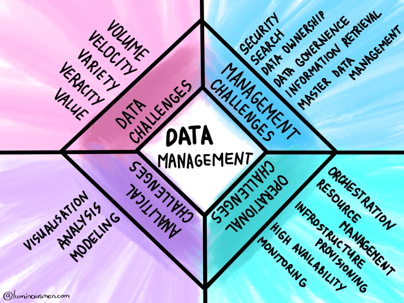 Management Challenges in Big Data